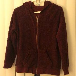 Velvet red Teddy jacket